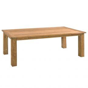 Zebra Tisch Oskar aus recyceltem Teakholz 230x100x77