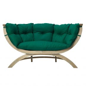 Amazonas Sofa SIENA DUE in verde und wetterfest NEW