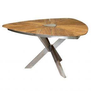 Diamond Garden Lyon Triangel Tisch 150 cm/ Edelstahl/Recycled Teak