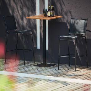 Jan Kurtz Barstuhl JOE, Gestell: Stahlrohr pulverb.  schwarz RAL 9005, Sitz: Kunststoffgewebe schwarz