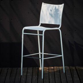 Jan Kurtz Barstuhl JOE, Gestell: Stahlrohr pulverb. weiß RAL 9010, Sitz: Kunststoffgewebe weiß