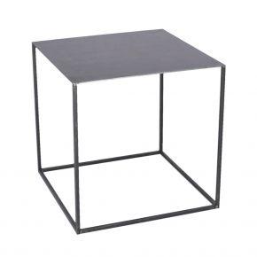 Jan Kurtz Beistelltisch PUR, 40 x 40 cm, 40 cm hoch, Stahlrohr pulverbeschichtet schwarz