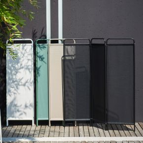Jan Kurtz PARAVENT, Gestell: Stahlrohr pulverb. schwarz, Bezug: Kunststoffgewebe schwarz