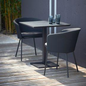 Jan Kurtz Sessel SUNDERLAND FABRIC, Gestell: Stahl pulverb. schwarz Sitz und Rücken gepolstert, Bezug: Polyacryl schwarz
