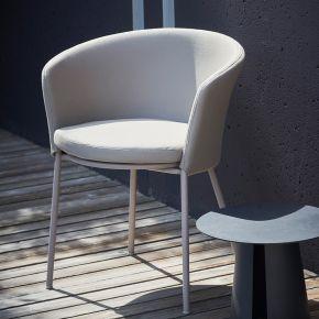 Jan Kurtz Sessel SUNDERLAND FABRIC, Gestell: Stahl pulverb.taupe Sitz und Rücken gepolstert, Bezug: Polyacryl taupe