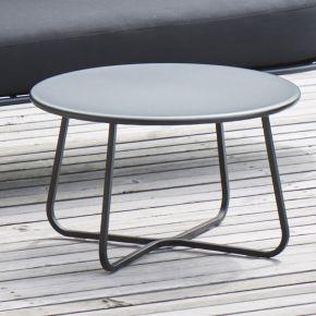 Jan Kurtz Beistelltisch SUNDERLAND, Stahl pulverbeschichtet schwarz matt, ca. Ø 65 x 40 cm