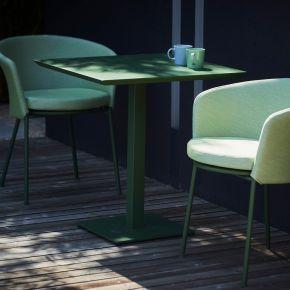 Jan Kurtz Tisch FLIX, Stahl galvanisch verzinkt, pulverbeschichtet grün, ca. 70 x 70 x 75 cm