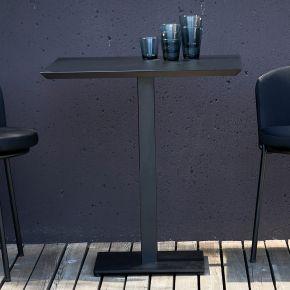 Jan Kurtz Tisch FLIX, Stahl galvanisch verzinkt, pulverbeschichtet schwarz matt, ca. 70x70x75 cm