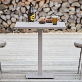 Jan Kurtz Tisch FLIX, Stahl galvanisch verzinkt, pulverbeschichtet taupe, ca. 70 x 70 x 75 cm