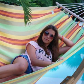 Einzel-Stabhängematte Kolumbiana Kiwi Baumwolle