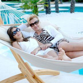 Lola Luxus Stab Hängematte gefüttert American Hammock Lifestyle COFEA CREMA