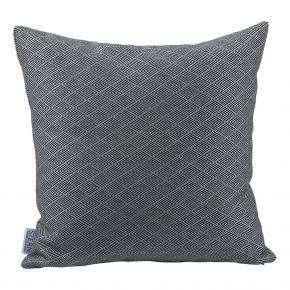 Stern Dekokissen ca. 45x45 cm, 100% Polyacryl, Design Raute schwarz