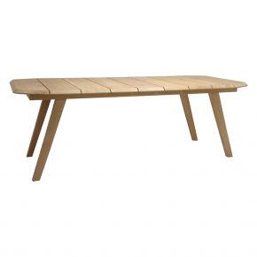 Stern Tisch 220x100x75 Teak Tischunterkante 66cm