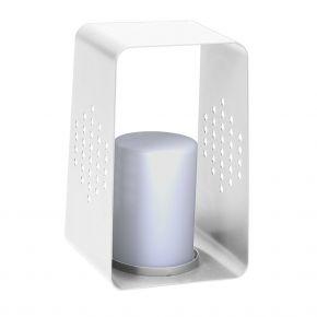 Stern LEUCHTE, Aluminium weiß mit LED-Einsatz, 26x28x45 cm