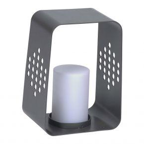 Stern LEUCHTE, Aluminium anthrazit mit LED-Einsatz, 20x22x30 cm