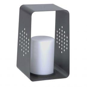 Stern LEUCHTE, Aluminium anthrazit mit LED-Einsatz, 26x28x45 cm