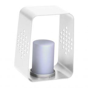 Stern LEUCHTE, Aluminium weiß mit LED-Einsatz, 20x22x30 cm