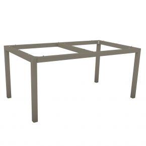 Stern Aluminium Tischgestell 160x90 cm, taupe, Vierkantrohr