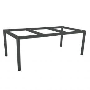 Stern Aluminium Tischgestell 200x100 cm, anthrazit, Vierkantrohr
