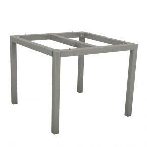 Stern Aluminium Tischgestell 80x80 cm, graphit, Vierkantrohr