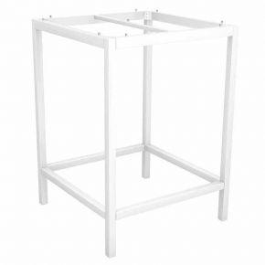 Stern Aluminium weiß Stehtischgestell 80x80x111 cm, Vierkantrohr