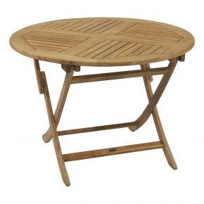 ZEBRA Tisch POKER aus Teakholz 110 cm rund, klappbar