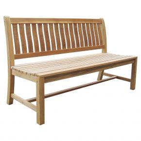 Zebra Bank LEXINGTON 3-Sitzer aus Teakholz, 150 cm, ohne Armlehnen