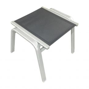 Zebra Fly Hocker Aluminium palladium, stapelbar, Textilen carbon grey