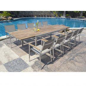 Gartentisch Kubex und Gartenstühle Pontiac 3310-7525