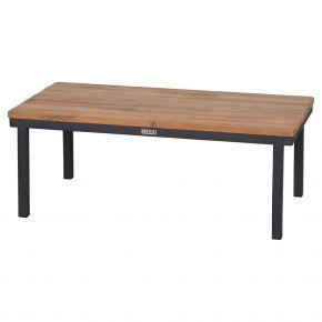 Zebra Hudson Lounge Tisch groß 94.5 x 48.5 x 36 Edelstahl, Teaktischplatte