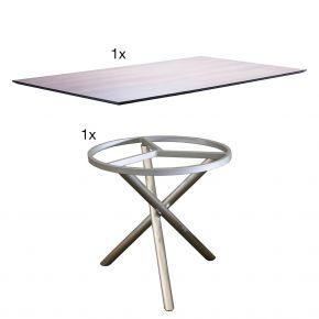 Zebra Tischgestell Mikado mit der Tischplatte wildeiche