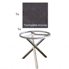 Zebra Tischgestell Mikado mit der Tischplatte bronze 110