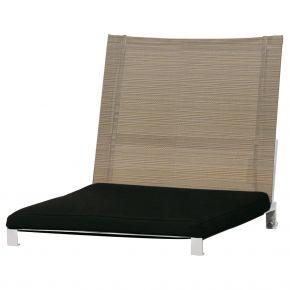 Zebra Rückenlehne Naxos aus Edelstahl und Batyline® espresso