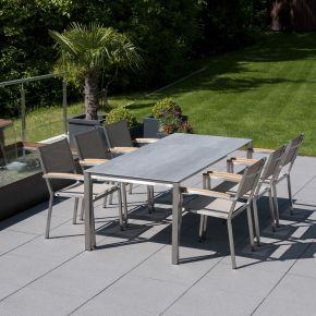 Zebra Pontiac und Tischgestell Opus und Tischplatte beton