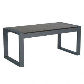 Stern Beistelltisch Allround, Aluminium anthrazit mit Tischplatte Silverstar Vintage grau