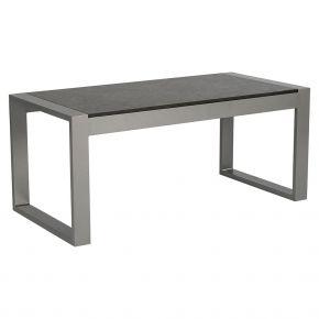 Stern Beistelltisch Allround, Aluminium graphit mit Tischplatte Silverstar Vintage grau