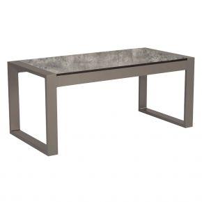 Stern Beistelltisch Allround, Aluminium taupe mit Tischplatte Silverstar Zement