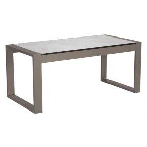 Stern Beistelltisch Allround, Aluminium taupe mit Tischplatte Silverstar Zement hell