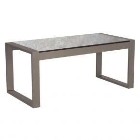 Stern Beistelltisch Allround, Aluminium taupe mit Tischplatte Silverstar Metallic grau