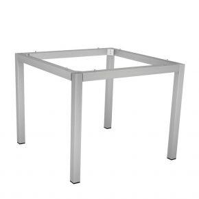 Stern Edelstahl Tischgestell 80x80 cm, Vierkantrohr