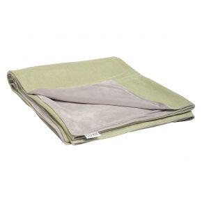 Stern Decke ca. 158x200 cm, 100% Polyacryl farngrün/Rückseite 100% Polyester hellgrau
