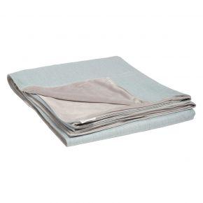 Stern Decke ca. 158x200 cm, 100% Polyacryl hellblau/Rückseite 100% Polyester hellgrau