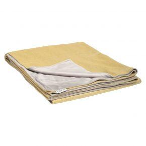 Stern Decke ca. 158x200 cm, 100% Polyacryl gelb/Rückseite 100% Polyester hellgrau