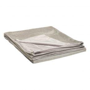Stern Decke ca. 158x200 cm, 100% Polyacryl graubraun/Rückseite 100% Polyester hellgrau