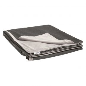 Stern Decke ca. 158x200 cm, 100% Polyacryl schiefergrau/Rückseite 100% Polyester hellgrau