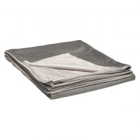 Stern Decke ca. 158x200 cm, 100% Polyacryl seidengrau/Rückseite 100% Polyester hellgrau