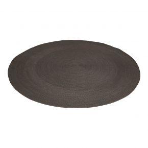 Stern Outdoorteppich rund ca. 220 cm aus Synthetikfaser, Dessin schiefergrau