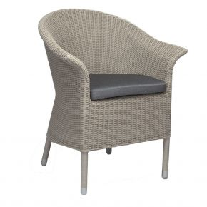 Stern Glen Sessel, Geflecht Vintage weiß inkl. Sitzkissen seidengrau 100% Polyacryl mit Reißverschluss