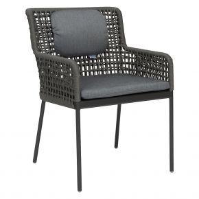 Stern GRETA Sessel Aluminium anthrazit mit Synthetikfaser platin inkl. Sitz- und Rückenkissen seidengrau, 100% Polyacryl mit Reißverschluss
