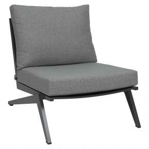 Stern JACKIE Sessel anthrazit mit Kissen seidengrau, 100% Polyacryl mit Reißverschluss